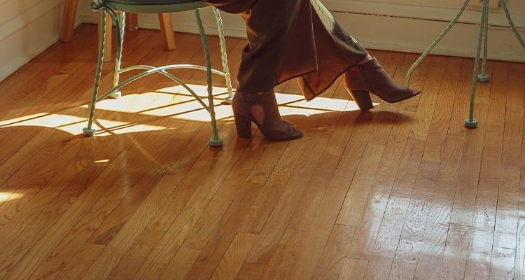 Shoes on Hardwood Floors