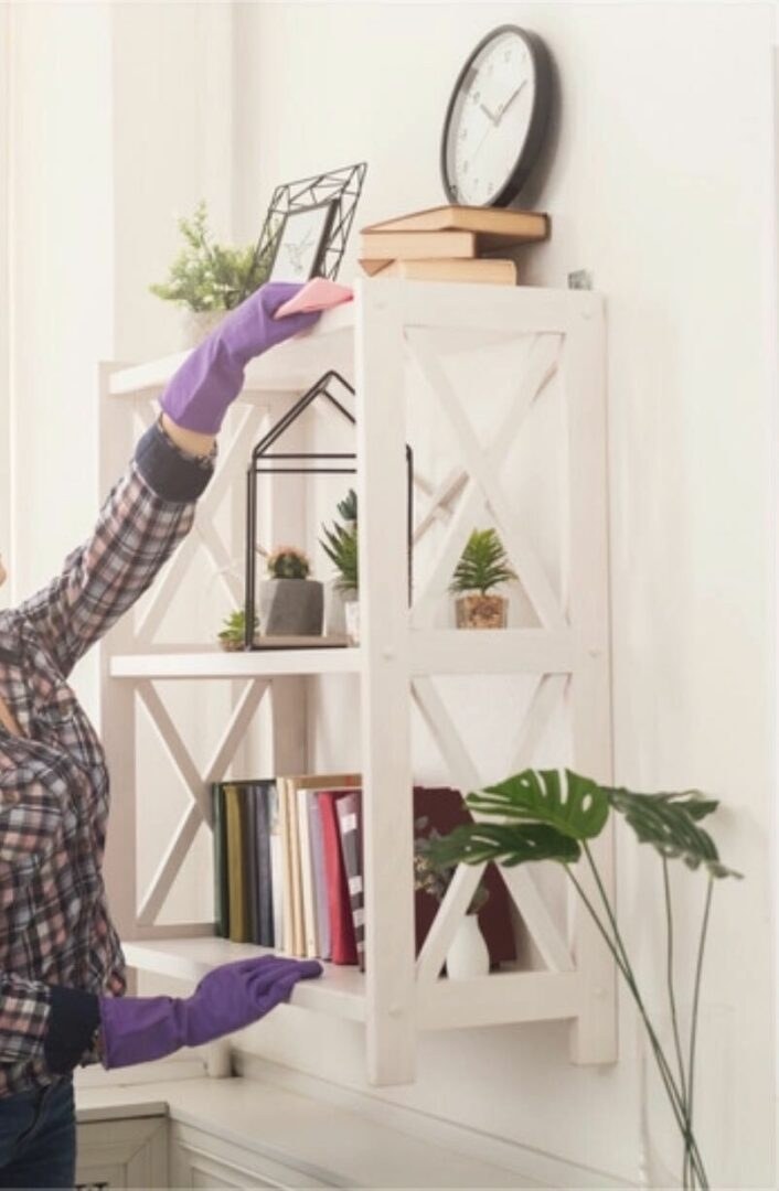 When dusting, we recommend starting from the top and working your way down to the bottom